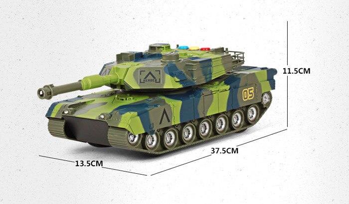 Modèle militaire populaire jouets véhicules en plastique Camouflage grands réservoirs d'inertie lumière musique jouets pour enfants garçons cadeau éducatif