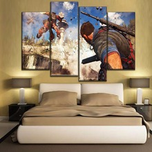 High Quality Modular Canvas Print Game Poster One Set 4 Piece Just Cause 3 Painting Modern Home Decorative Bedroom Wall Artwork