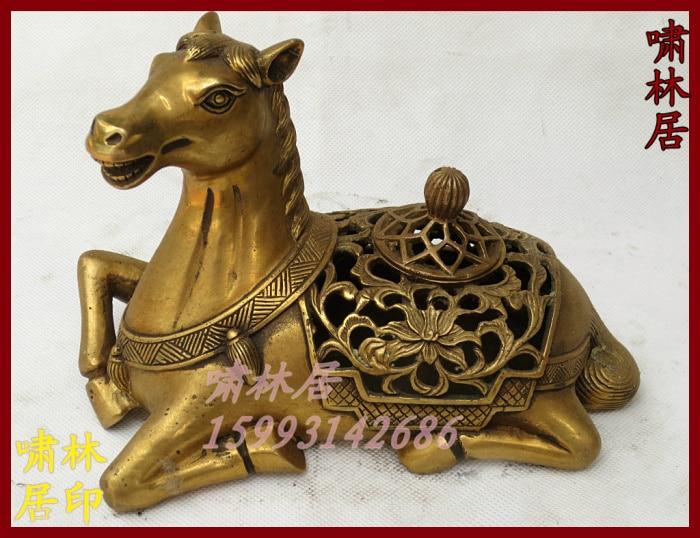 Bronze Crafts Decoration Copper Incense Burner Incense Stove Horse Incense Burner Refined Incense Burner