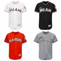 MLB Men S Miami Marlins Baseball Alternate Blank Authentic Flex Base Jersey