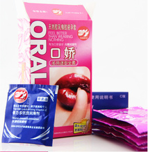 Fruit flavor penis sleeve condom blowjob condoms