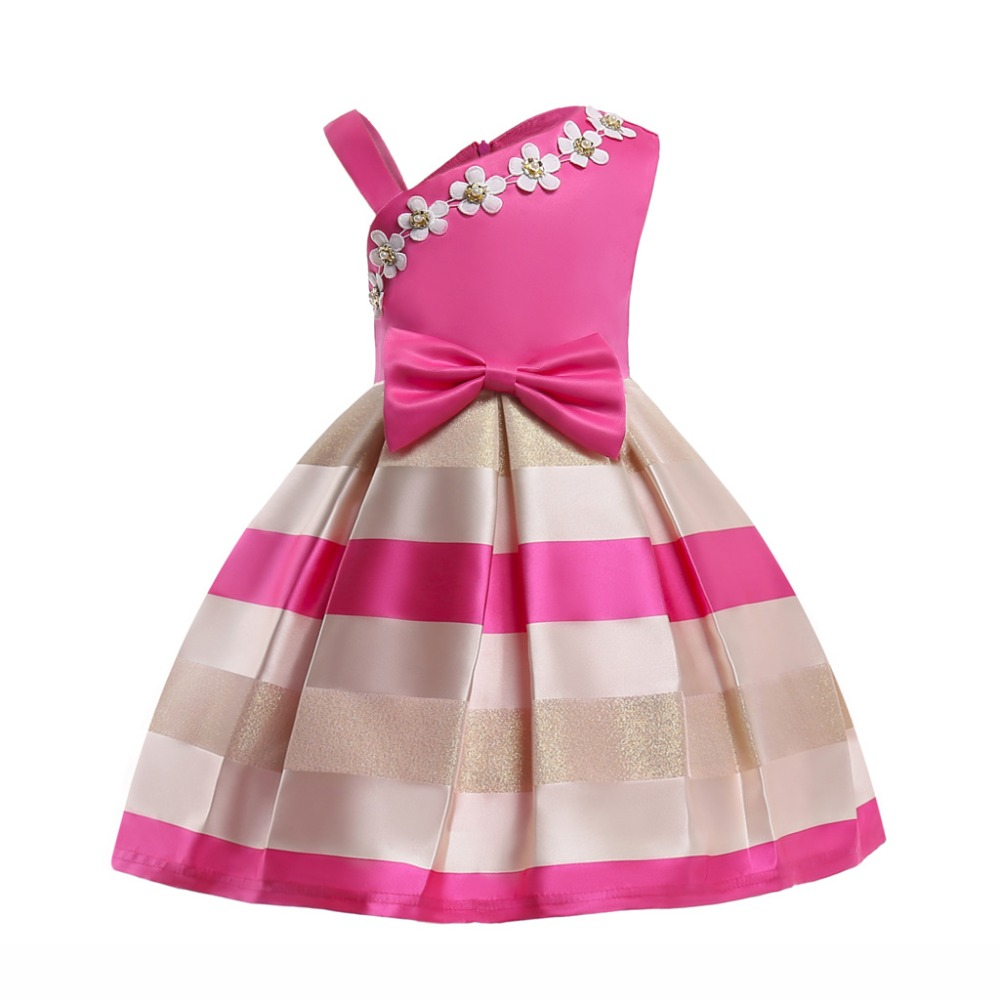 Sweet Daily Summer Girl Dresses Children Bowknot Striped Princess Tutu Birthday Elegant  Party Dress Kid baby Christmas ClothesSweet Daily Summer Girl Dresses Children Bowknot Striped Princess Tutu Birthday Elegant  Party Dress Kid baby Christmas Clothes