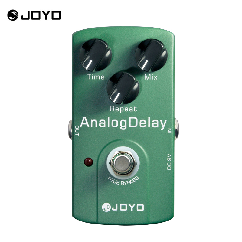 JOYO JF-33 True Bypass Analog Delay Guitar effect Pedal stompbox with time mix repeat knob mild and mellow circuit delay joyo jf 317 space verb digital reverb mini electric guitar effect pedal with knob guard true bypass