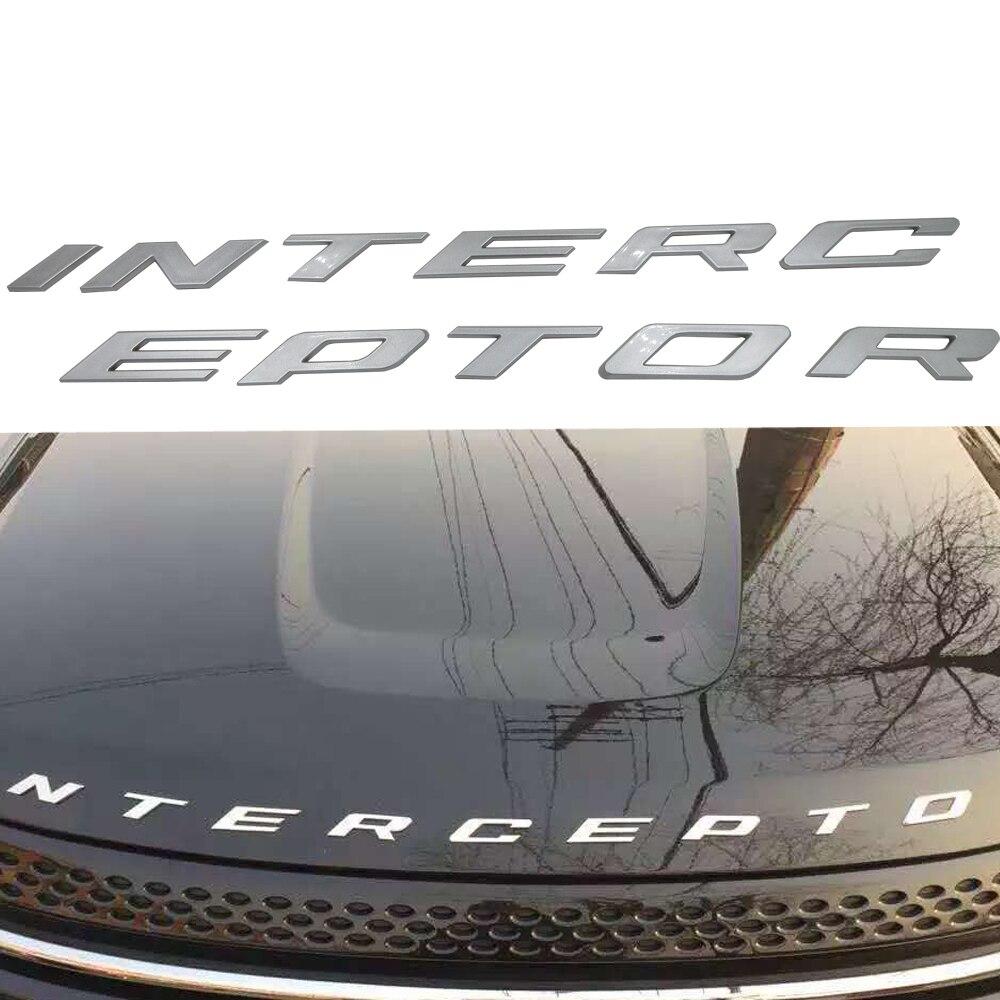Стайлинга автомобилей серебро/графит серый для Ford Корона Виктория полиция перехватчик перехватчик 3Д Исправлены буквы стикер эмблемы значка
