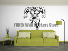 Green Giant Wall Stickers DC Anime Super Hero Vinyl Decals Indoor Kids Room Backdrop Decoration Removable Mural(China)