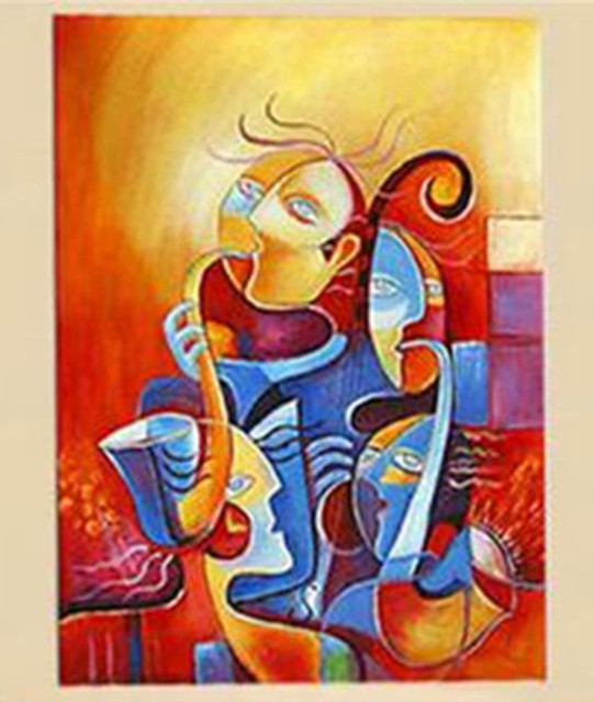 modern wall art picture hand painted colorful figure oil paintings on canvas abstract faces acrylic