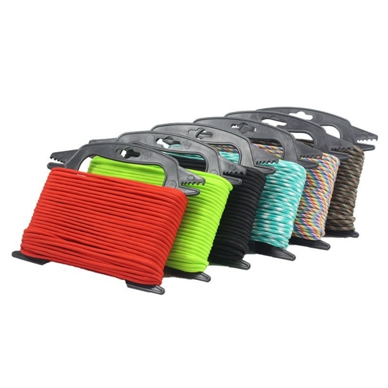 Paracord Ladder Winder Black Fishing Line Winder Cable Spools Rope Organizer Shaft Tool Hold 100ft Parachute Cord