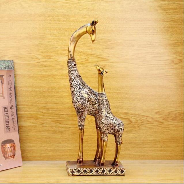 Mother Sungiraffe Figures Fairy Lovely Resin Giraffe Statue