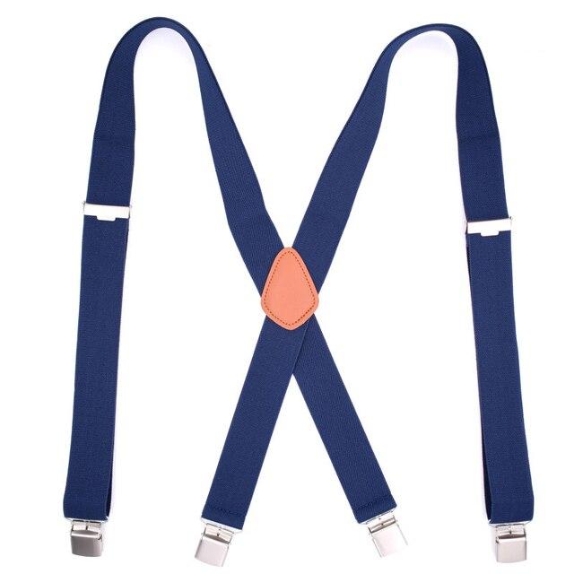 large choix de couleurs et de dessins site réputé juste prix € 8.63 52% de réduction|Aliexpress.com: Acheter Bretelles homme bleu marine  bretelles de travail 1.38