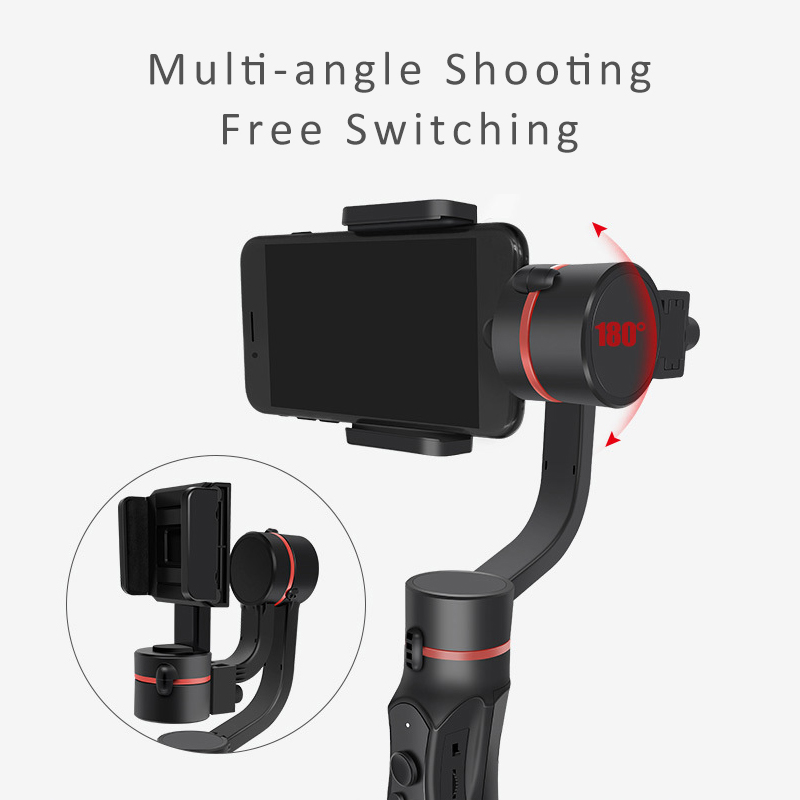 Fansaco H2 3-Axis Handheld Gimbal Smartphone Stabilizer For IPhone X 8 Plus 8 7 Plus 7 6S For Samsung For Gopro Action Camera feiyutech feiyu spg gimbal 3 axis splash proof handheld gimbal stabilizer for iphone x 8 7 6 plus smartphone gopro action camera