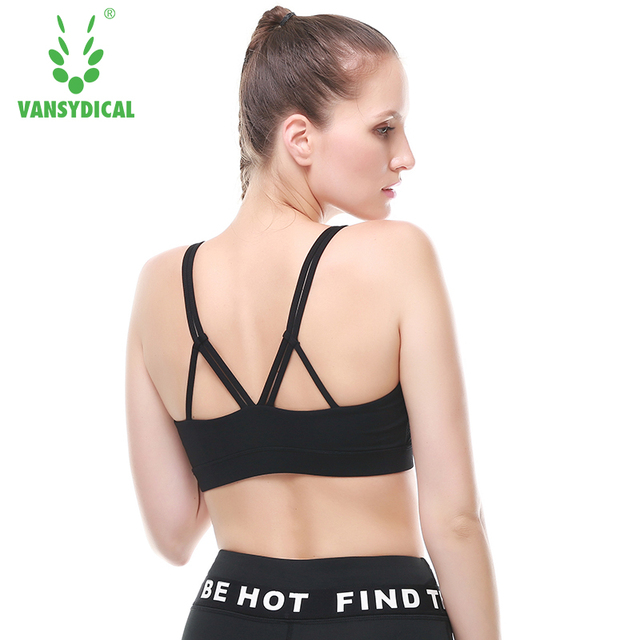 024e661183f52 Women quick dry wireless sports Bra No steel ring Padded Yoga Bras vest  jogging underwear Fitness Push Up Running Bra