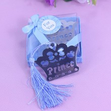 10PCS Prince Crown Bookmarks Wedding birthday Baby Shower Favor souvenirs For Guests Home Party Gift