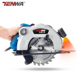 TENWA Elétrica de Serra Circular para madeira 1500 W 7 polegada 60mm Multi-função Casa Máquina de Corte Pequena Aleta Viu circular