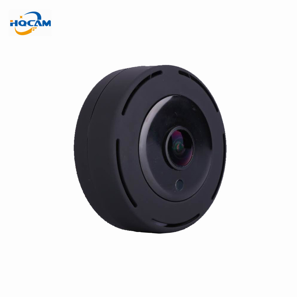 HQCAM 1080P 180 Degree smart IPC Wireless IP Fisheye Camera Support Two Way Audio P2P wifi camera Cctv mini IP camera Wide Angle hqcam full hd 1080p 180 degree mini ip camera monitor ip camera mini p2p plug play wide angle camera for 1 78mm fisheye lens
