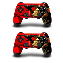 Red Dead Controller Skin Stickers For Playstation 4 Dualshock 4 Vinyl Skins Decals Play Station 4 Gamepad Protector cover