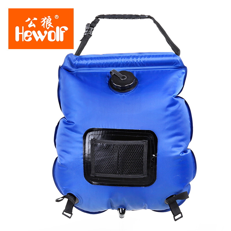 Outdoor Solar Energy Water Bag Portable 20L Shower Bag Camping Hiking Solar Heated Shower Bath Bag With Thermometer table