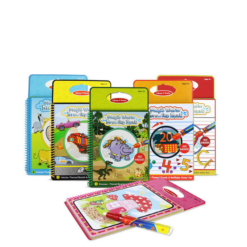 Magic Kids Water Drawing Book with 1 Magic Pen Intimate