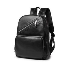 2016 new arrival men backpack leather schoolbag men s travel bags rucksack 2016 fashion Daily backpack