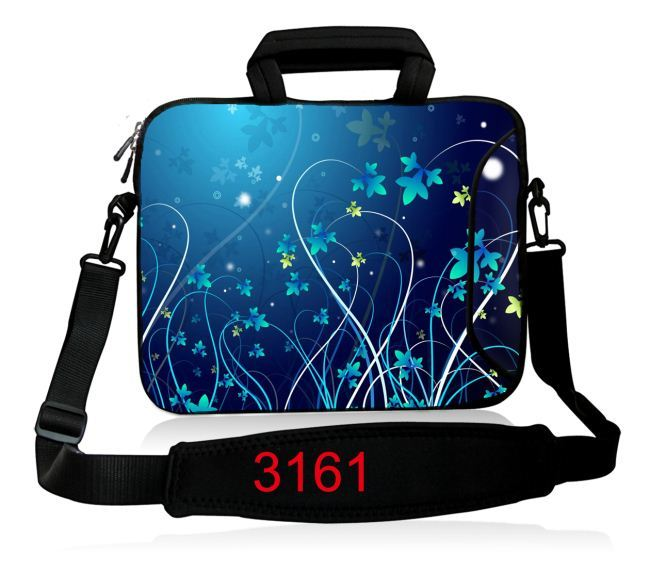 Blue Flower Laptop Shoulder bag 11 12 13 14 15 15.6 Women Men Notebook Bag Case 14 Laptop Sleeve for MacBook Air 13 Case