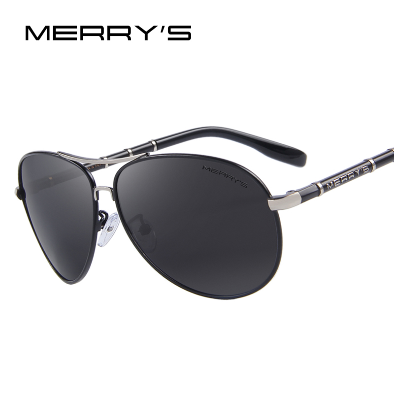 MERRY'S Design Men Classic Brand Aviation Sunglasses HD Polarized Aluminum Driving Luxury Gafas de sol S'8766