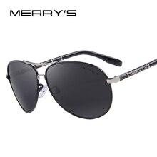 Merry's Дизайн Для мужчин Классический бренд авиации Солнцезащитные очки HD поляризованные Алюминий вождения роскоши Защита от солнца очки s'8766