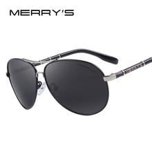 MERRY'S Design Men Classic Brand Aviation Sunglasses HD Polarized Aluminum Driving Luxury Sun glasses S'8766
