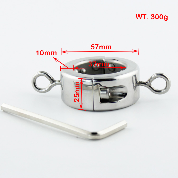 ФОТО 300g Stainless steel Ball Weight Scrotum Ring Penis cock testis Restraint device Adult sex products 620g Ball Stretcher 2016 NEW