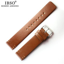 1pcs 20mm Black Brown Watch Bands Strap Watchband Leather Men Women Genuine Leather Watch Belt(China)