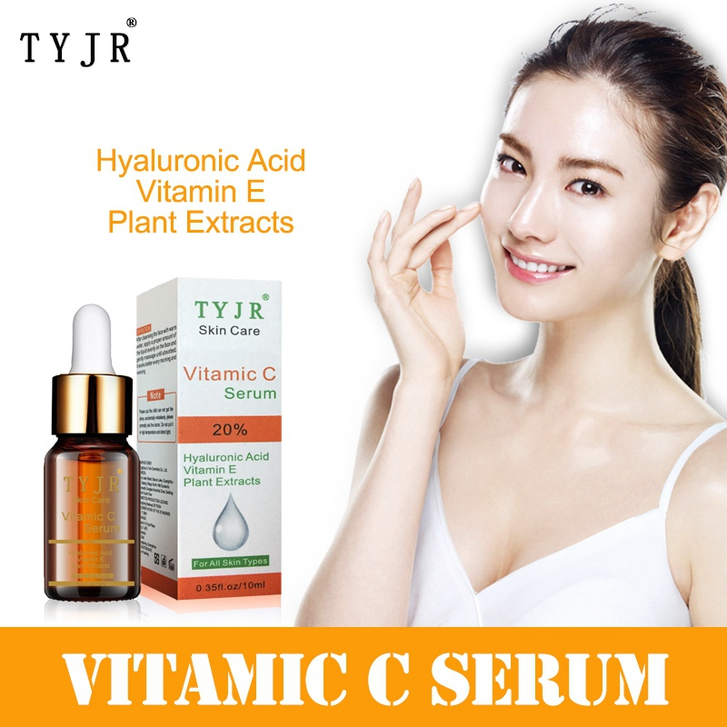 Skin Care Vitamin C VE Plant Extracts  Liquid Brighten Serum Fade Away Blackhead Remover Day Creams Moisturizers Essence
