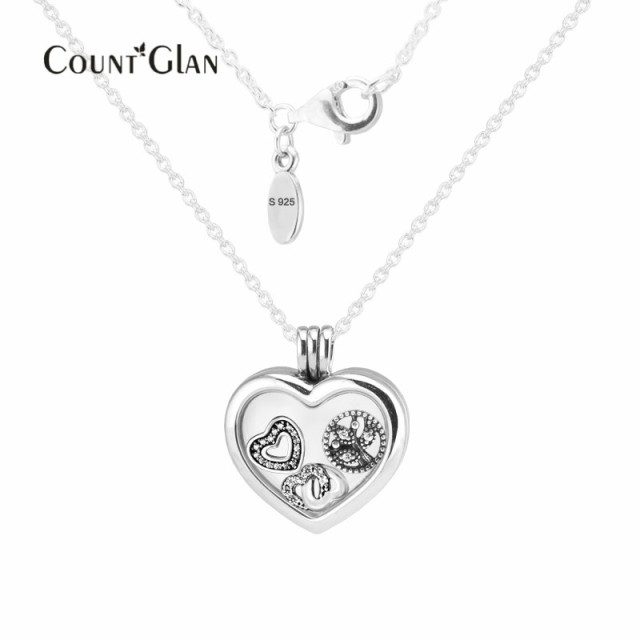 60cm large floating locket heart pendant and necklace with 3pcs 60cm large floating locket heart pendant and necklace with 3pcs inner parts 925 sterling silver fine aloadofball Choice Image