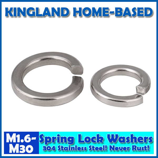 Gb T93 Single Coil Spring Lock Washers Normal Type 304 Stainless