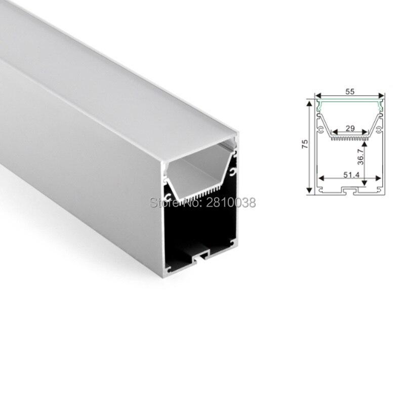 50x1 m conjuntos lote 6000 series perfil de aluminio perfil de led e grande pingente com