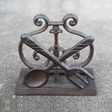 Antique Business Card Holder Cast iron Luxury Desk Accessory Name Stand Case Christmas Gift