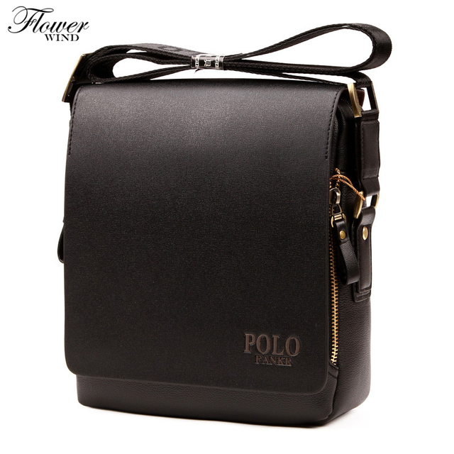 fbbacc3b8662 FLOWER WIND New Arrival Fashion Business Leather Men Messenger Bags  Promotional Small Crossbody Shoulder Bag Casual