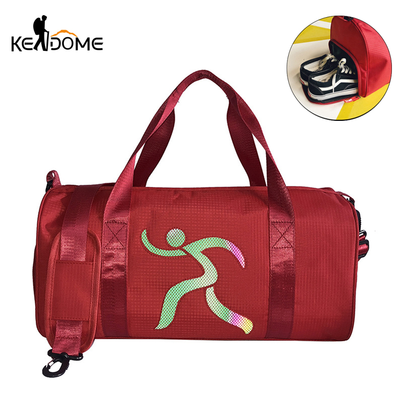 Gym Bags Provided New Gradient Color Letter Printing Sports Nylon Gym Bag For Shoes Male Travel Luggage Bag Yoga Bag Handbags For Women Xa562wd Up-To-Date Styling Sports & Entertainment