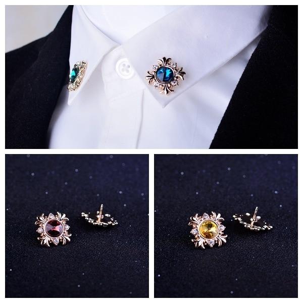 I-Remiel Оригинальный модный мужской костюм с кристаллами, украшение на лацкан, булавка для женщин, брошь со стразами, пуговица, воротник-рубашка, аксессуары