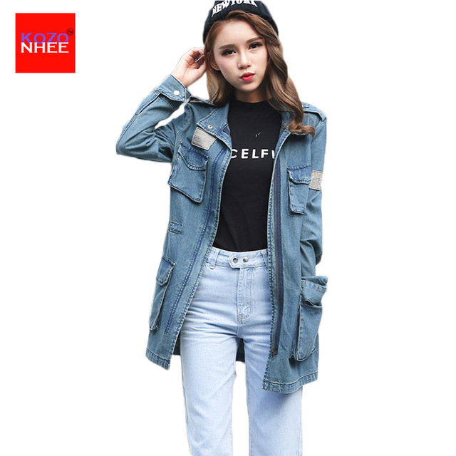 4eb6e3d394dac2 Multi-pocket-Denim-Jacket-Coat-Women-Zipper-Elastic-Waist-Female-Jean-Facket-Long-Coat-Large-Size.jpg_640x640.jpg
