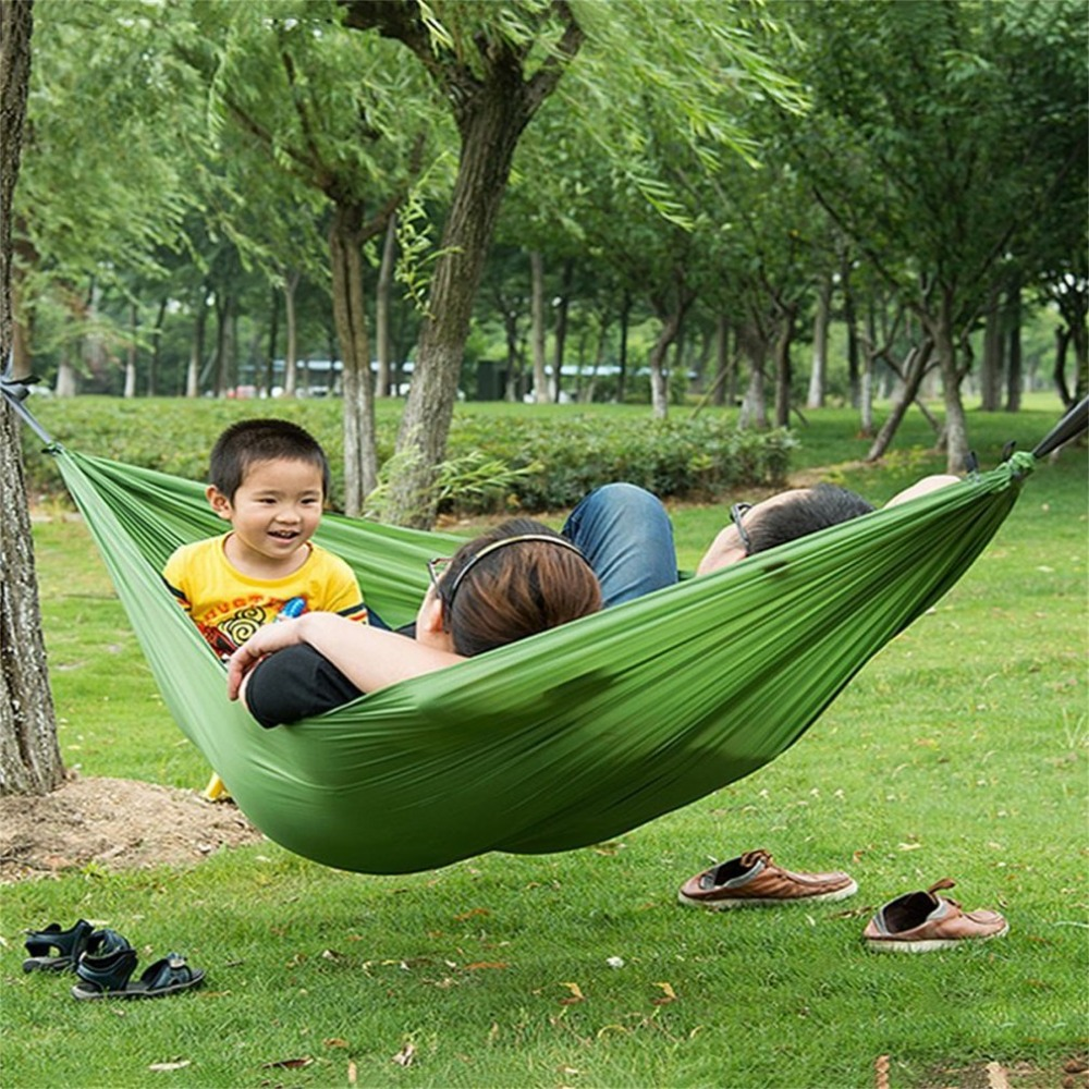 Portable Nylon Hammock sleeping bag Hammock Parachute Bed for 2 Persons Travel Camping O ...