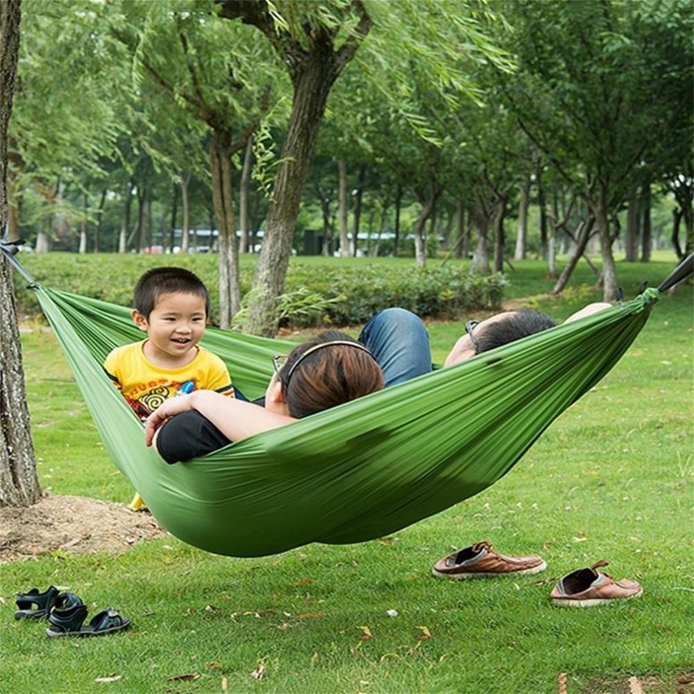 Portable Nylon Hammock sleeping bag Hammock Parachute Bed for 2 Persons Travel Camping Outdoor Hot ...