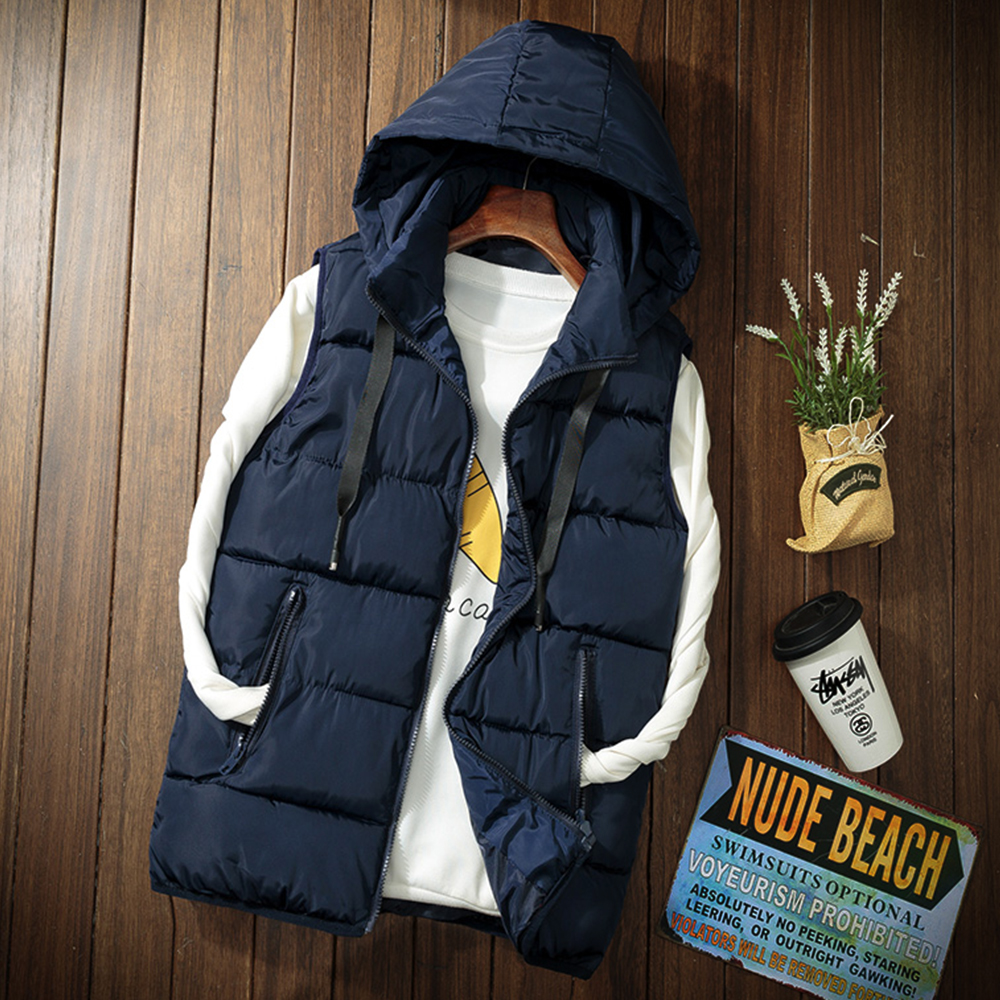 b 2019 Autumn Winter Warm Fashion Sleeveless Men 39 s Vest Casual Cotton Padded Coat Slim Quilted Leisure Couple Wear men vest in Vests amp Waistcoats from Men 39 s Clothing