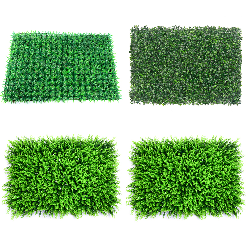 40x60cm Wedding Decoration Grass Mat Green Artificial Plant Lawns Landscape Carpet For Home Garden Wall Decoration Fake Grass