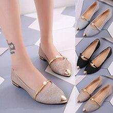 Женская обувь; сезон весна; Новинка года; изящные тонкие туфли с закрытым носком и жемчугом; 100 туфли на плоской подошве с ремешком; Корейская версия 100; женская обувь с ремешком