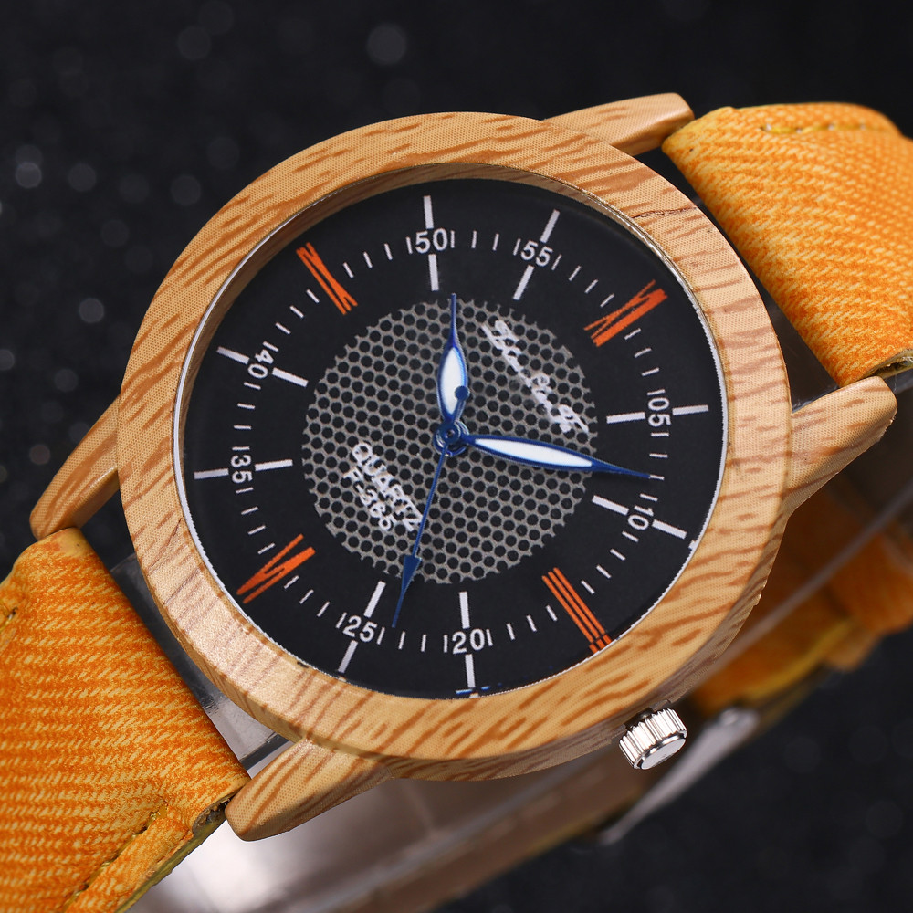 Womens Watches Nature Wooden Watch Quartz 2019 Minimalist Clock Bamboo Denim Fashion Cool Female Watch Bayan Kol Saati LD