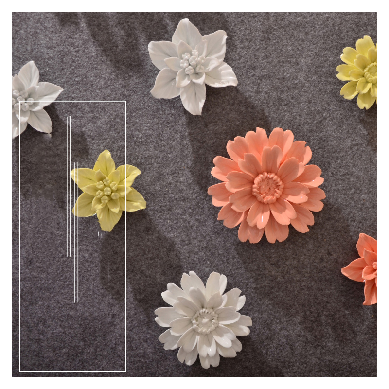Ceramic Wall Flower Decor: Creative Ceramic Flower Wall Hanging Lily Flower Crafts