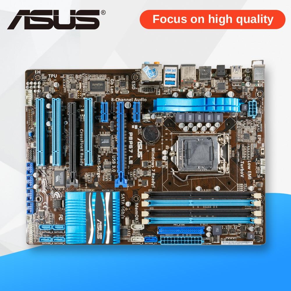 Asus P8P67 LE Desktop Motherboard P67 Socket LGA 1155 i3 i5 i7 DDR3 32G SATA3 USB3.0 ATX asrock h61m vg4 original used desktop motherboard h61 socket lga 1155 i3 i5 i7 ddr3 16g usb2 0 micro atx