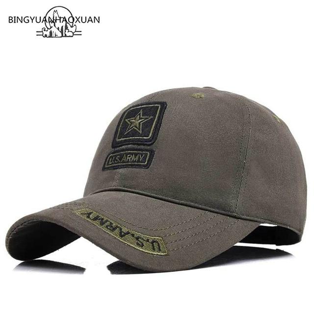 BINGYUANHAOXUAN High Quality Cap Army Camo Baseball Cap Men Camouflage  Snapback Tactical Cap Mens Baseball Caps Gorra 02b885fa125