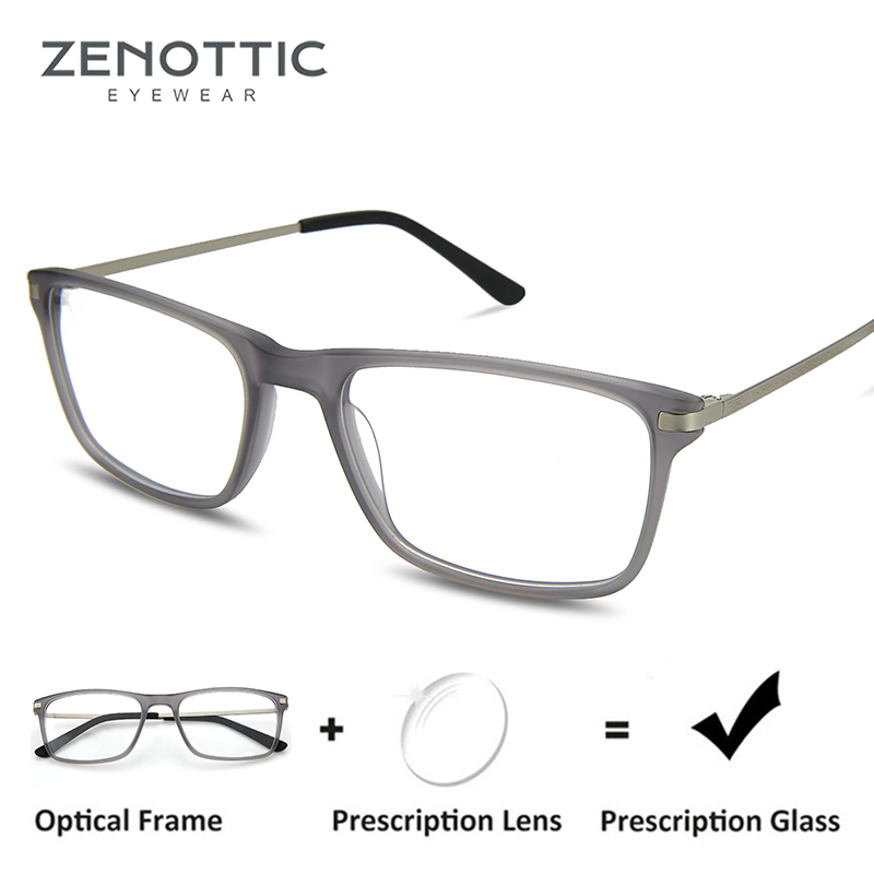 ae40ce43124 ZENOTTIC Rectangle Prescription Glasses Frame Men Transparent Optical  Eyeglasses Myopia Clear Eyewear Spectacles Frames Fashion