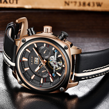 Mechanical Watch LIGE Wristwatches Automatic Mens Watch Top Brand Luxury Casual Leather Waterproof Watch Men Relogio Masculino цена