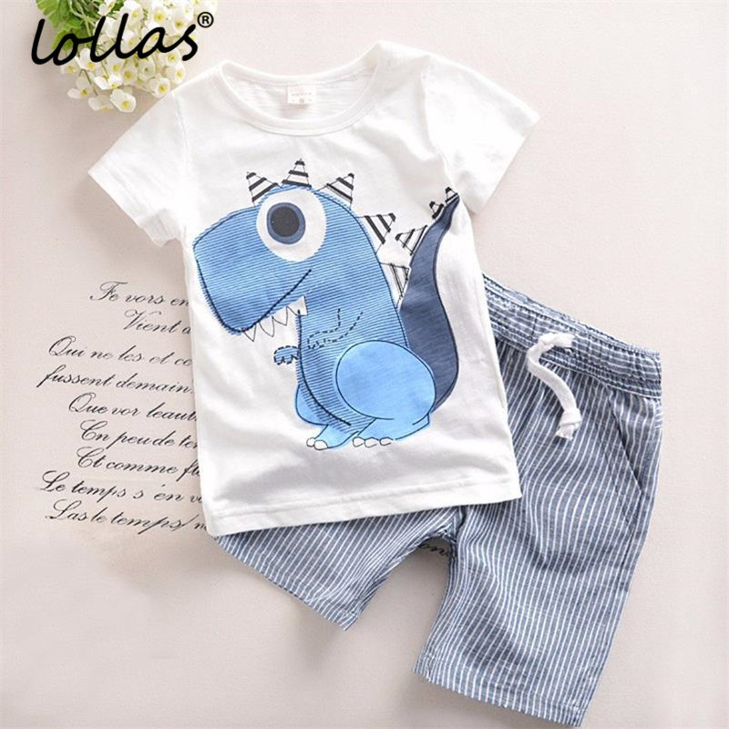 Lollas Summer New Brand Boys Clothing Children Casual Boys Cotton Clothes Cartoon Kids Boy Clothing Set T-Shirt+Pants free shipping 2016 summer new arrive letter fashion children boy clothing set 100% cotton short sleeve casual clothes set