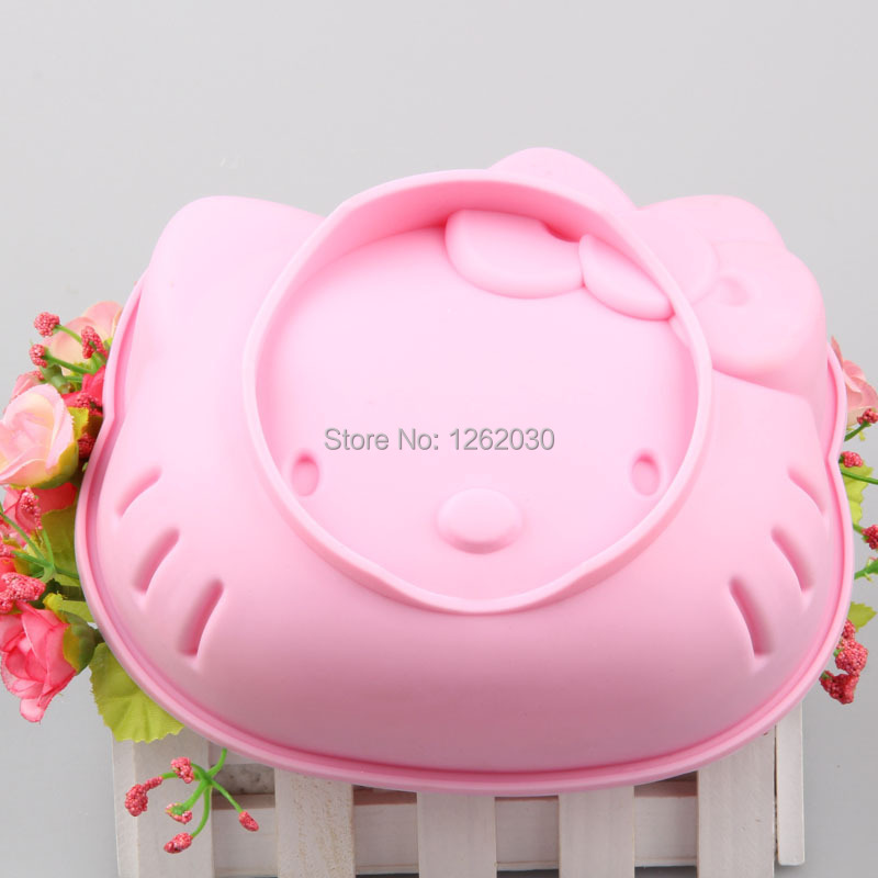 6 inch pink hello kitty cake mold Thickening silicone Cartoon cake